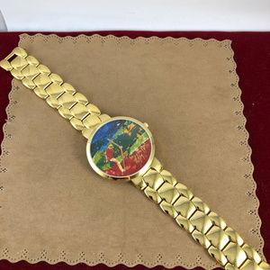 Bulova Accessories - Vintage LeRoy Nieman Chipping On Artist Gold Watch